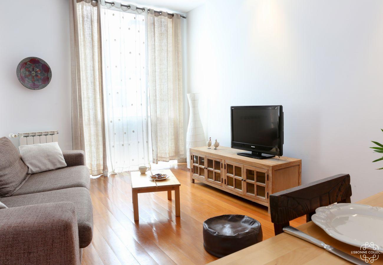 Séjour salle à manger deux chambres en location meublée