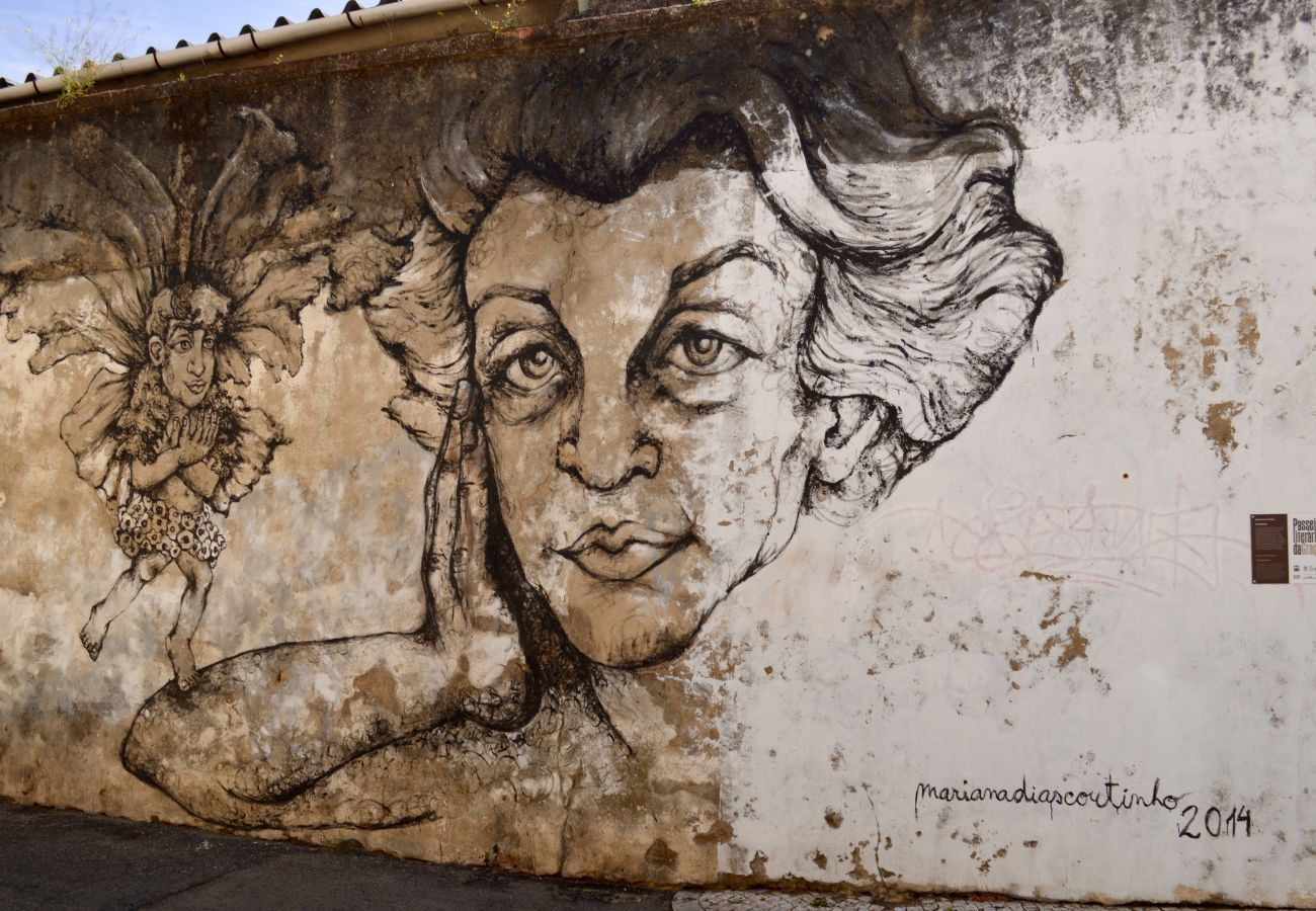 Street art à Graça quartier historique de Lisbonne