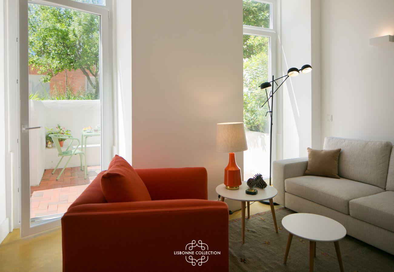 Appartement avec accès extérieur sur un jardin avec vue sur le Tage