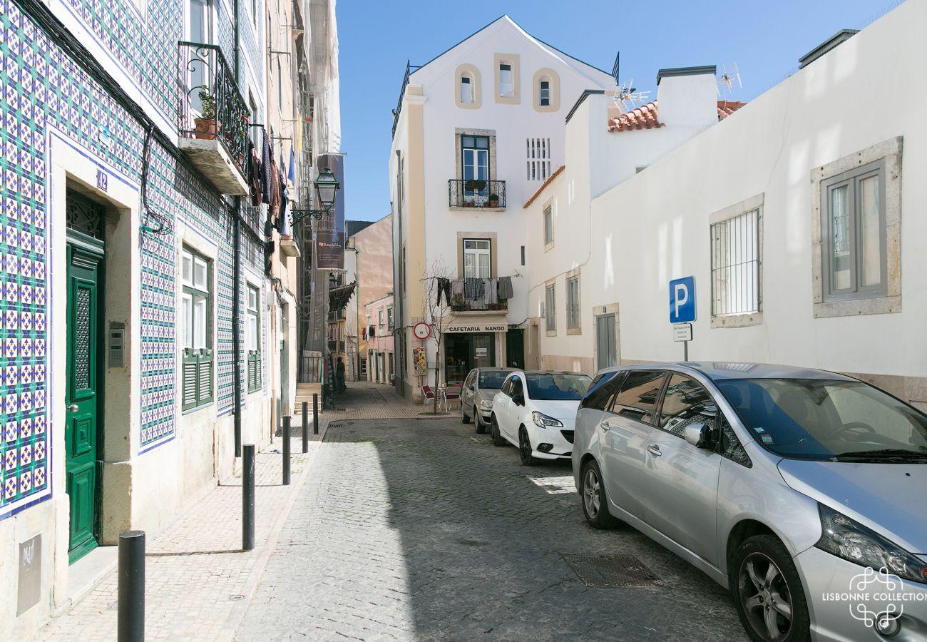 Rues typiques de Lisbonne dans le quartier de Graça