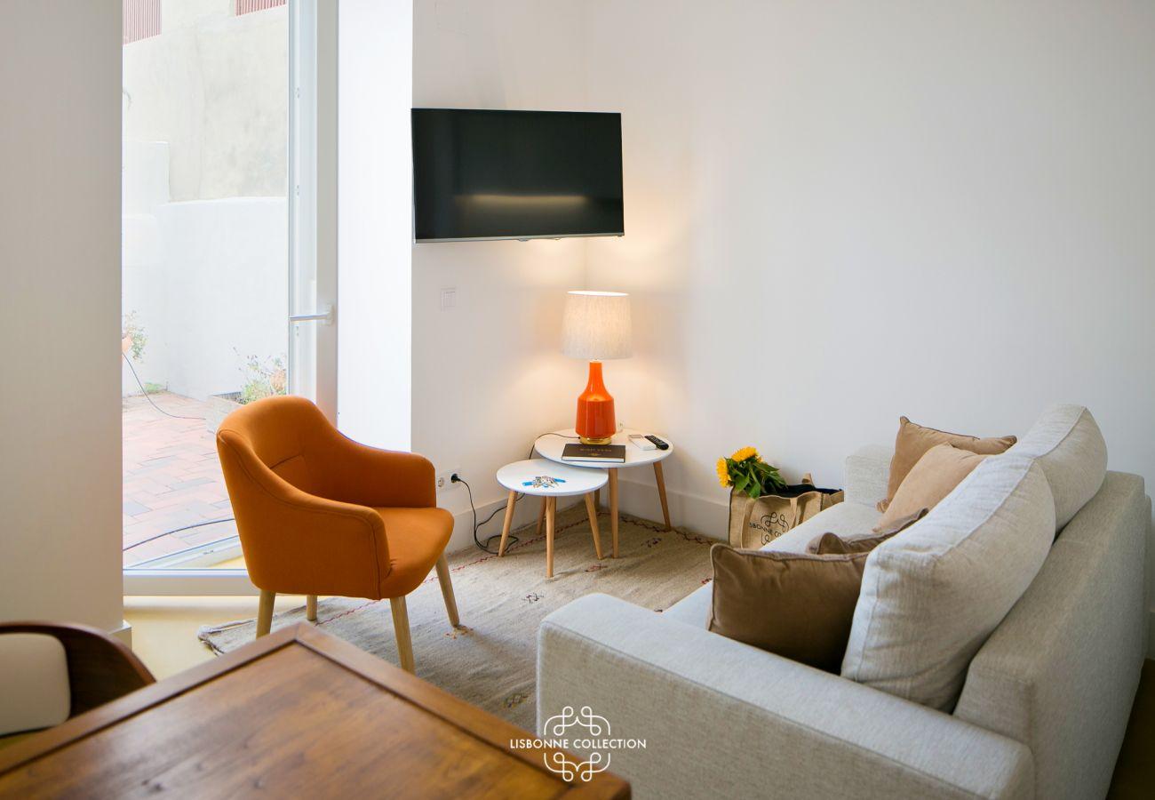 Séjour dans une résidence à louer dans le centre ville de Lisbonne