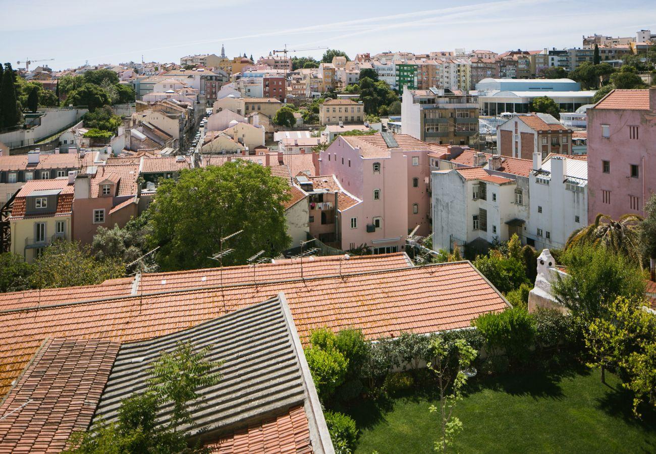 Vue sur les toits de la ville blanche