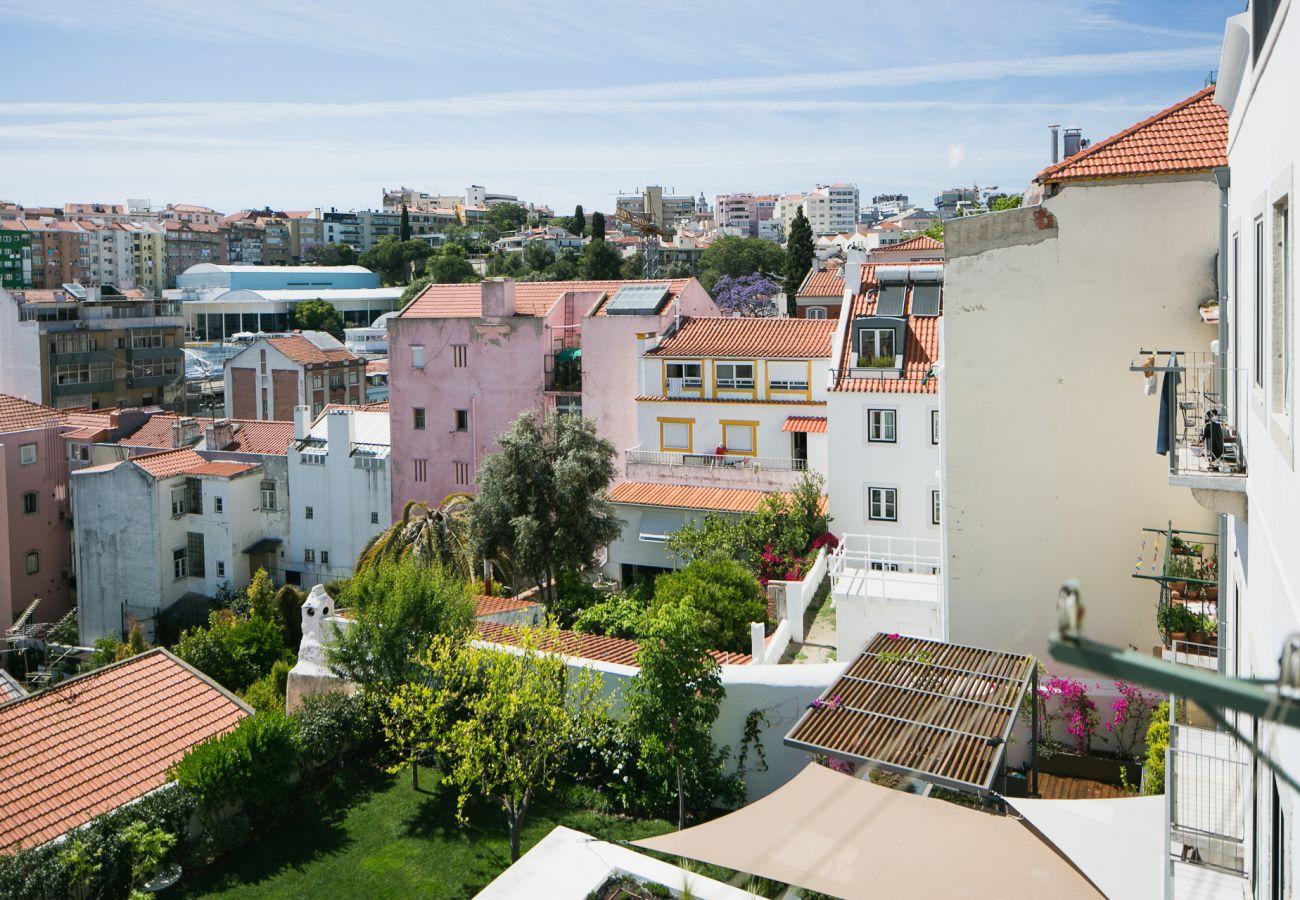 Vue de l'habitat prestigieux à louer dans le centre de Lisbonne