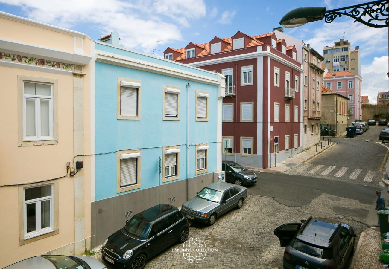 Vue de l'appartement à louer en centre ville à Lisbonne