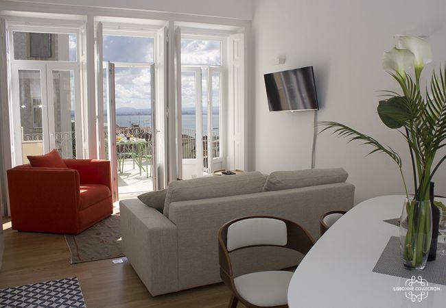 Appartement à Lisboa - Pedro Alexandrino Terrace River view 32 by Lisbonne Collection