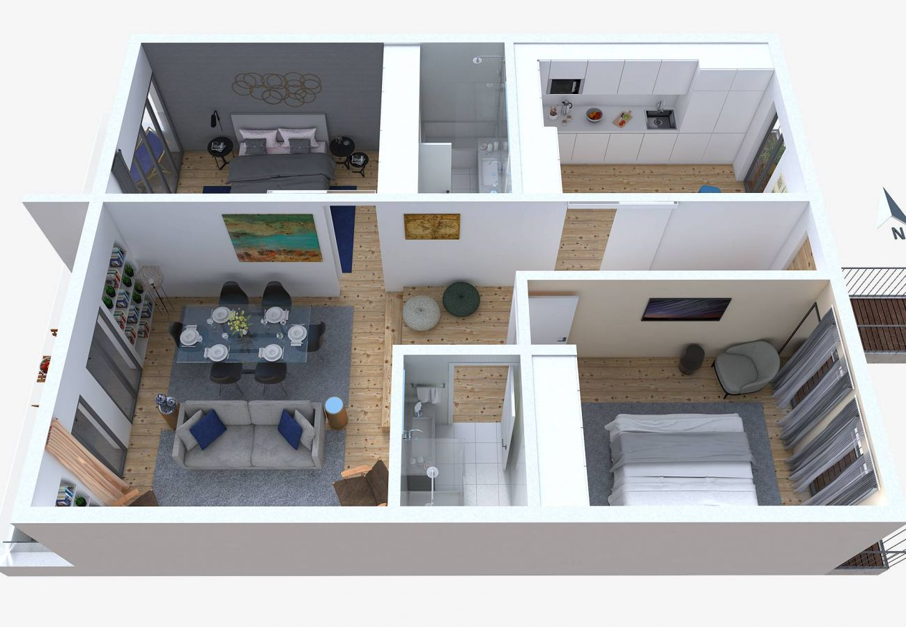 Appartement à Lisbonne - Very central and cool 2 bed apartment with balcony & parking 77 by Lisbonne Collection